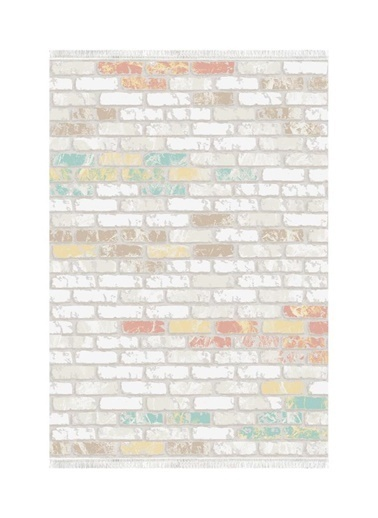 Belemir Belemir K503 Taş Duvar  Dekoratif Yıkanabilir Halı Renkli